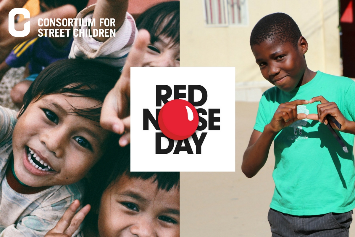 Red Nose Day USA collaboration with Consortium for Street Children
